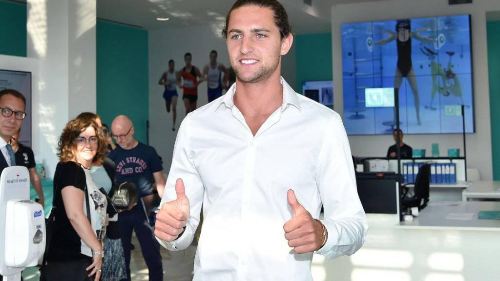 Adrien Rabiot bei seiner Ankunft in Turin