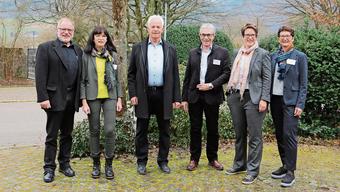 Von links: Thomas Rohrer ersetzt Kathrin Hasler im Vorstand. Weiter dem Frickal-Regio-Vorstand erhalten bleiben Präsident Christian Fricker, Meinrad Schraner und Françoise Moser. Weiterhin die Geschäftsstelle leiten wird Judith Arpagaus.