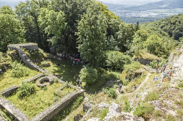 In der neunten Etappe ging es von Trimbach auf die Frohburg und zum Schloss Wartenfels. Eine Wanderung mit vielen schönen Aussichten.