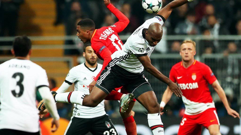 Besiktas Istanbul und Monaco trennen sich 1:1 unentschieden.