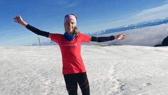 Martina Strähl trainiert auf dem Jura.