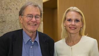 Vorgänger und Nachfolgerin: Heiner und Lilian Studer am Wahlsonntag.