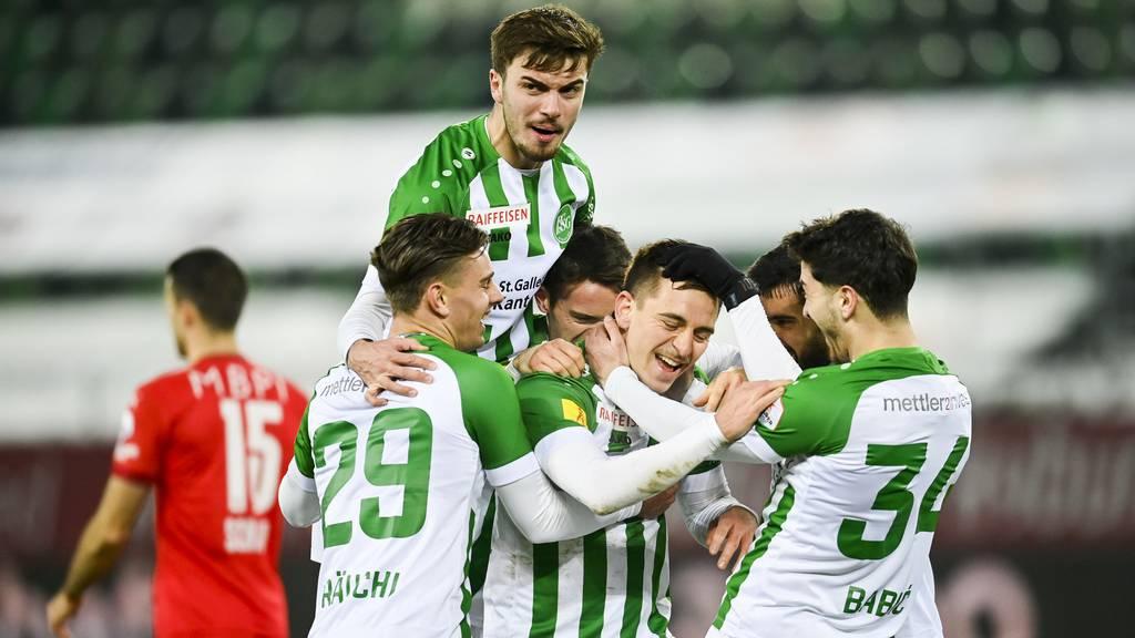Der FC St.Gallen gewinnt mit 2:0 gegen den FC Vaduz