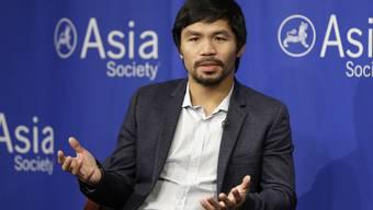Der philippinische Boxer und Politiker Manny Pacquiao verglich gleichgeschlechtliche Paare mit Tieren - und war sich angeblich nicht bewusst, dass er damit jemanden verletzen könnte (Archiv).