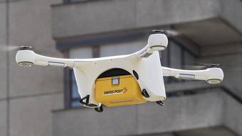 Eine Drohne der Post.