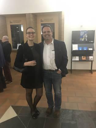 Gemeinderätin Nadine Burtscher und Kantonsrat Rochus Burtscher