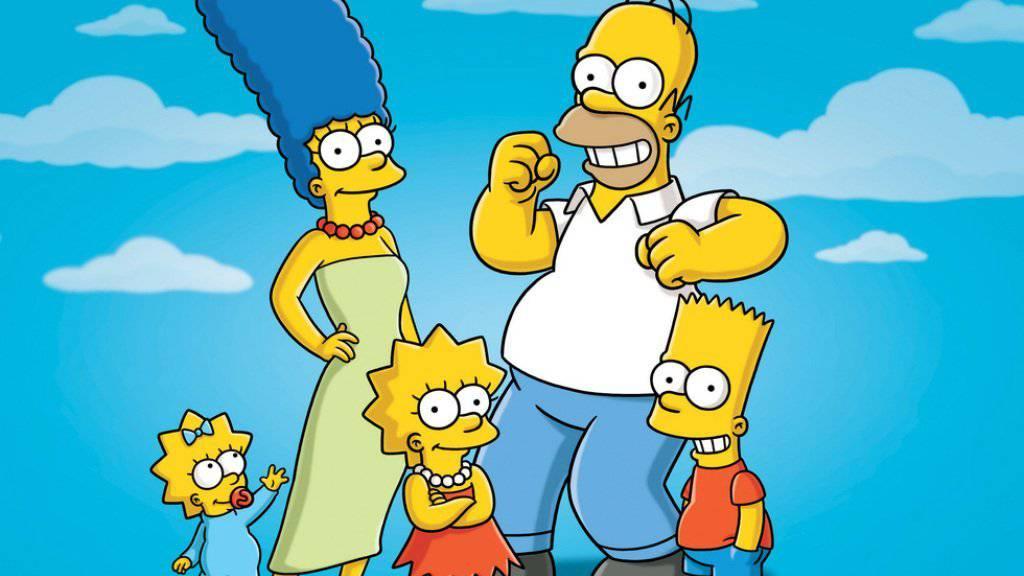 Homer Simpson (hinten rechts) kann man jetzt studieren: Die Universität Glasgow bietet einen Philosophie-Kurs über das Oberhaupt der Cartoon-Serie an. (Archivbild)