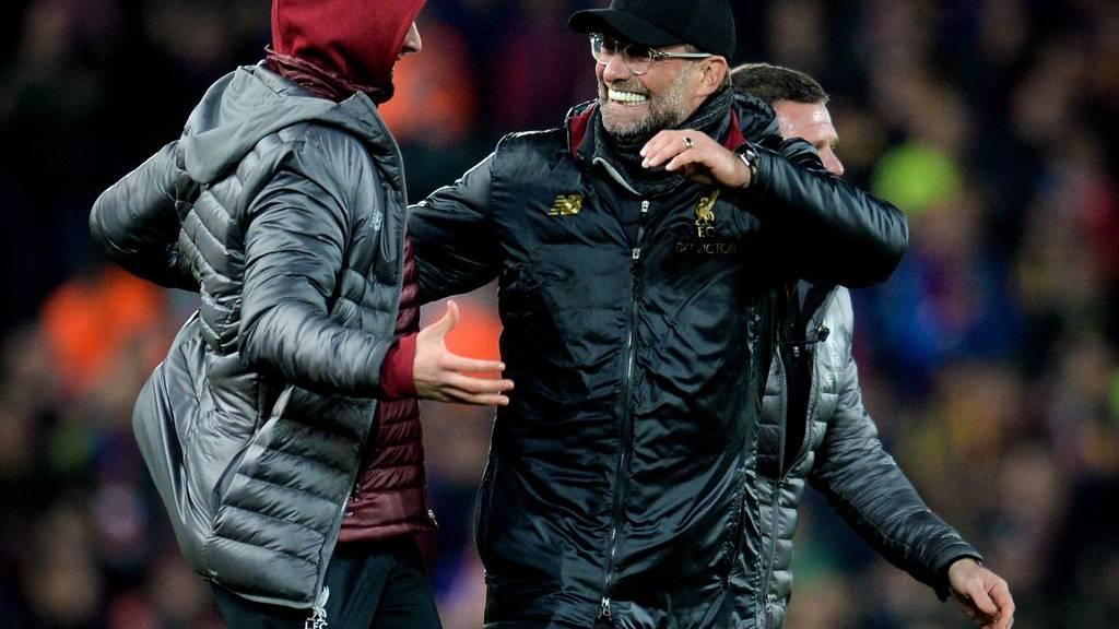 Jürgen Klopp schafft mit Liverpool gegen Barcelona die Wende und freut sich diebisch.