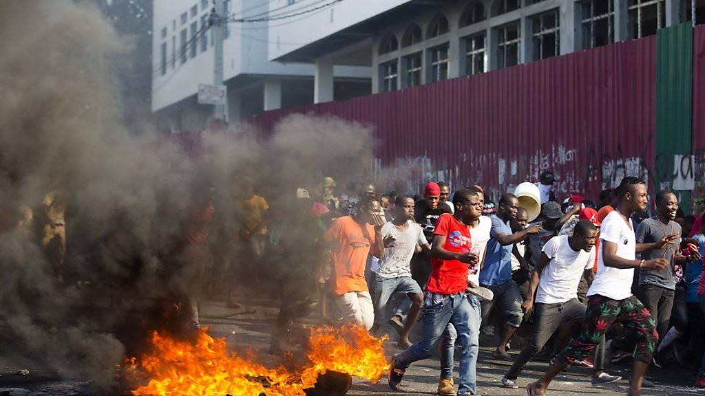 Ein Toter bei Protesten in Haiti