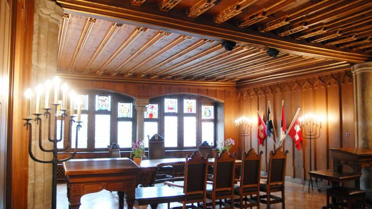 Die Restaurierung des Tagsatzungsaals, die im Jahr 2013 angepackt wird, bedeutet viel Kleinarbeit.  Walter Schwager
