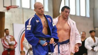 Der Brugger Judoka Tobias Meier (blau) gibt in drei Wochen in Warschau sein EM-Debut.