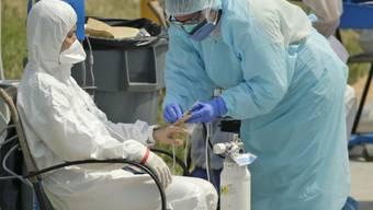 Die USA haben inzwischen die weltweit meisten Fälle von Infektionen mit dem neuartigen Coronavirus.