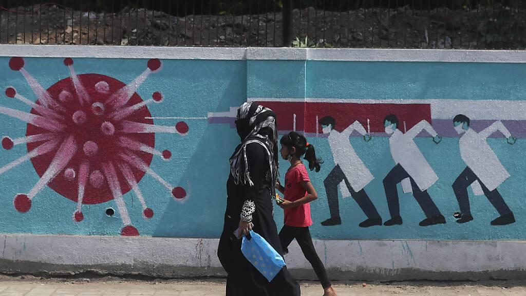 Anhaltend hohe Corona-Neuinfektionen in Indien