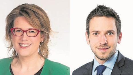 Désirée Stutz ist neue SVP-Fraktionspräsidentin. Uriel Seibert präsidiert neu die EVP-BDP-Fratkion.