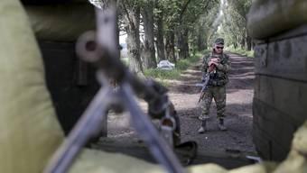 Wieder wurden OSZE-Beobachter gestoppt: Checkpoints prägen derzeit das Strassenbild (hier einer der ukrainischen Armee).