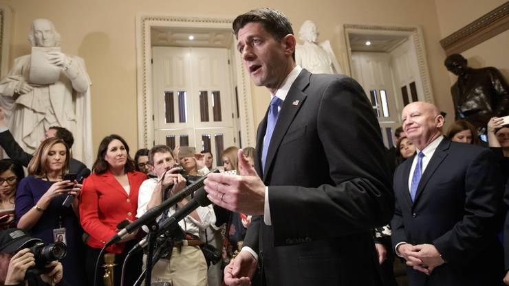 Der Vorsitzende des Abgeordnetenhauses, der Republikaner Paul Ryan, sprach sich für die Steuerreform aus.