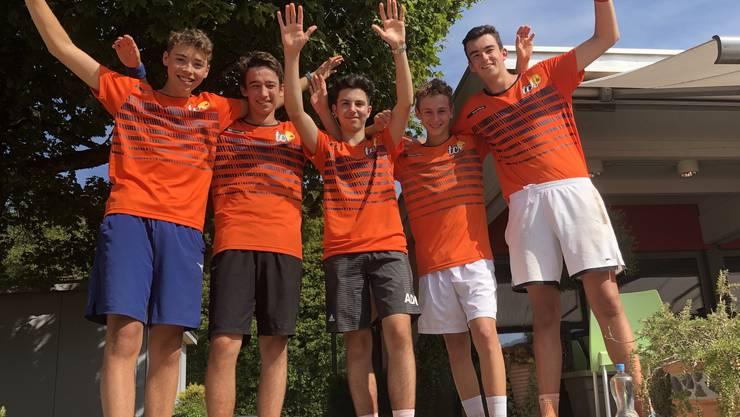 U-18 Mannschaft nach der Finalqualifikation