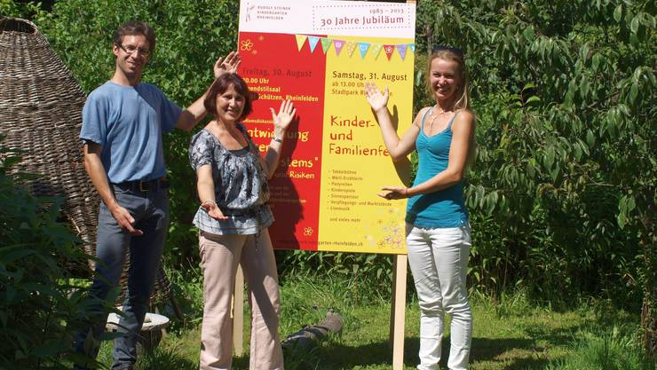 Ein Teil des Vorbereitungsteams zum Jubilo-Fest im Stadtpark