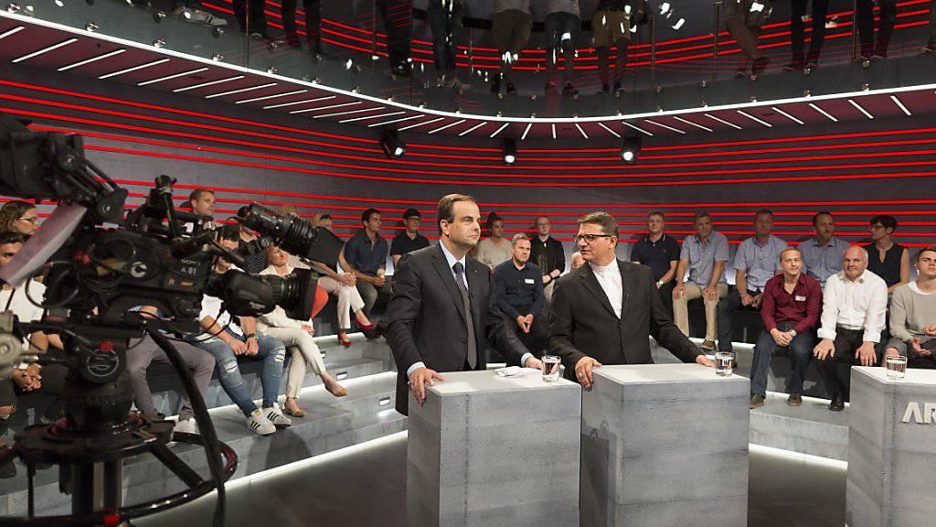 """Sendungen wie die """"Arena"""" soll es weiterhin geben. Der Bundesrat stellt sich gegen die Volksinitiative zur Abschaffung der Radio- und Fernsehgebühren.  (Symbolbild)"""