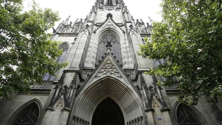 Die Elisabethenkirche wird ebenfalls saniert.