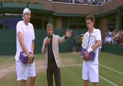 John Isner und Nicolas Mahut bestritten an Wimbledon 2010 das längste auf der Profitour je gespielte Tennismatch