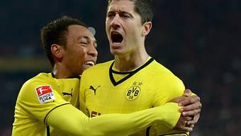 In Dortmund nicht mehr zu halten: Stürmer Robert Lewandowski (r.)
