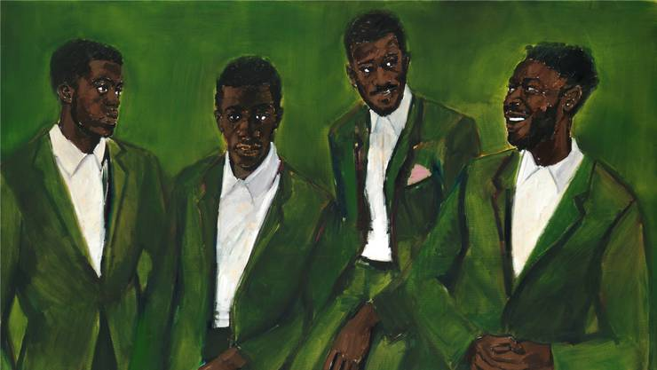 Für einmal umgekehrt: Eine Frau malt Männer. Lynette Yiadom-Boakyes «A Culmination» ist der neuste Ankauf des Kunstmuseums.