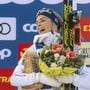 Die strahlende Siegerin Therese Johaug
