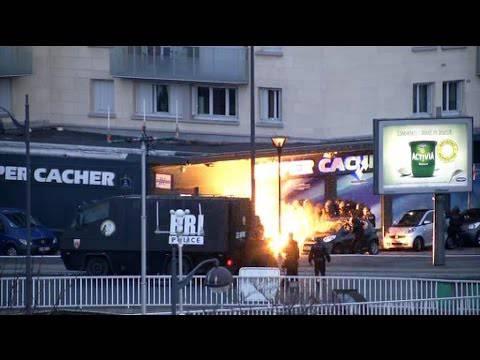 Terror in Frankreich: Hier stürmt die Polizei den koscheren Lebensmittelladen