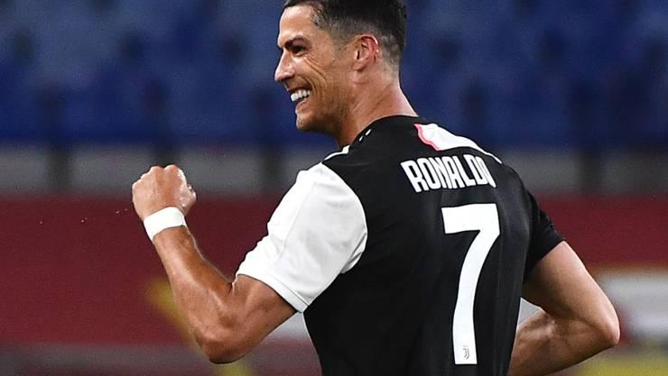 Cristiano Ronaldo erzielte sein 25. Saisontor in der Meisterschaft