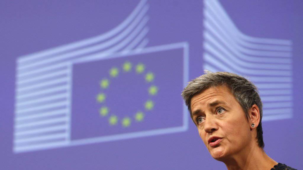 EU-Wettbewerbskommissarin Margrethe Vestager: «Die Kommission gelangte bei ihrer Prüfung zu dem Schluss, dass Irland Apple unzulässige Steuervergünstigungen gewährt hat, aufgrund derer Apple über viele Jahre erheblich weniger Steuern zahlen musste als andere Unternehmen.» (Archiv)