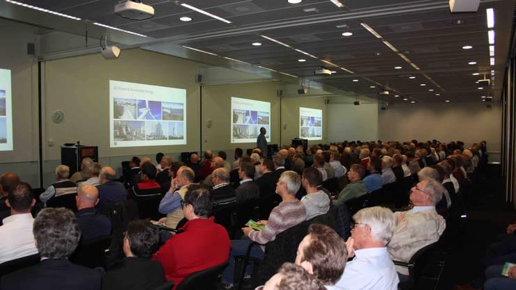 Ein voller Saal zum aktuellen Thema Power to Gas -  ein wichtiges Element auf dem Weg zur Dekarbonisierung.