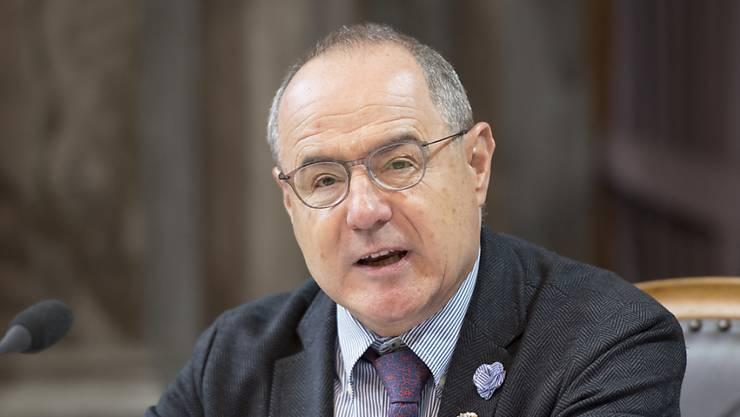 Claude Janiak (SP/BL), Präsident der Geschäftsprüfungsdelegation, hat am Dienstag den Ständerat über die verschwundenen Akten der Geheimarmee P-26 informiert. (Archivbild)