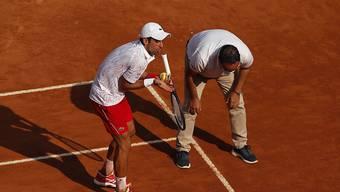 Soll gemäss Novak Djokovic hinfällig werden: Die Diskussion mit dem Linienrichter.