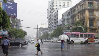 Schwere Regenfälle in der burmesischen Stadt Yangon
