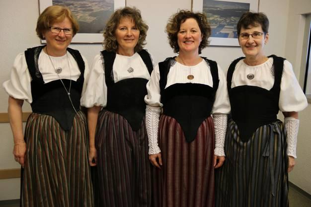 (v.l) Ruth Siegenthaler (Mühledorf), Hilda Weibel (Aetingen), Katrin Wyss (Brügglen), Therese Strausak (Lüterkofen).