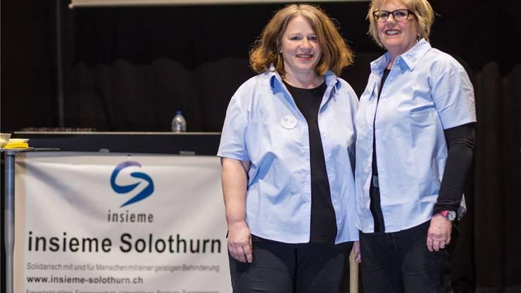 Die Co-Präsidentinnen Claudia Rüegsegger und Sonja von Allmen. (Archiv)