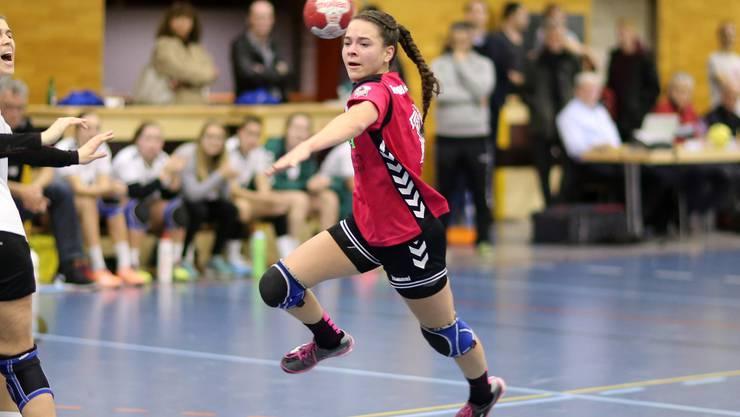 Aline Mathys erzielte sechs Tore aus sechs Versuchen für die Leimentalerinnen.