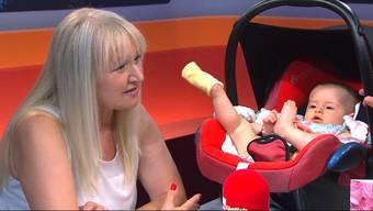 Zlata Vasiljevic (59)war zusammen mit ihrer sechs Monate alten Tochter Anjela zu Gast in der Sendung «TalkTäglich». Dort stellte sie sich den Fragen von Moderator David Kaufmann rund um Risiken, Kritik und Kinderwunsch.