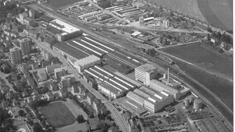 Die Schweizerische Wagons- und Aufzügefabrik AG Schlieren (hier eine Aufnahme um 1970) wurde am 31. August 1985 geschlossen. Ortsmuseum Schlieren