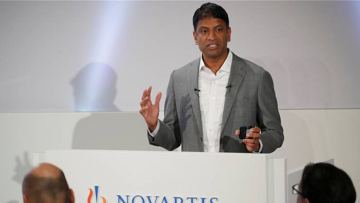 «Die Mitarbeiter werden anständig behandelt»: Novartis-Chef Narasimhan zum Stellenabbau.