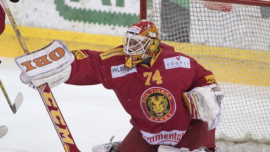 Langnaus Goalie Ivars Punnenovs musste am Samstag beim Gastspiel im Tessin nach 40 Minuten ausgewechselt werden