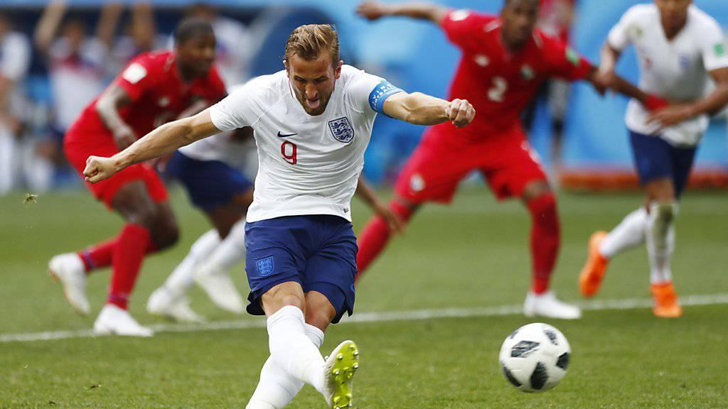 Mit zwei wuchtigen Penaltys und einem Ablenker Englands Hattrick-Schütze gegen Panama: Captain Harry Kane