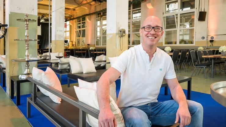 Christian Range, ex Betreiber der E-Halle, erfüllt sich mit dem eigenen Eventlokal einen Lebenstraum. Kenneth Nars