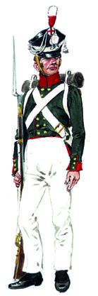 Russischer Gardist zu Zeiten der napoleonischen Kriege.