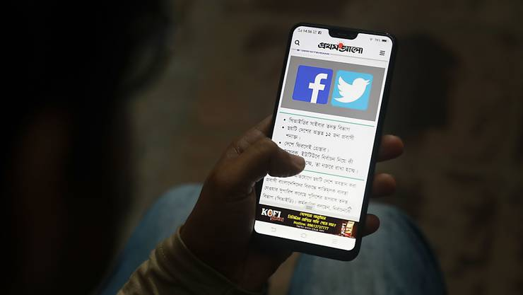 Facebook und Twitter im Visier der russischen Justiz. (Archivbild)
