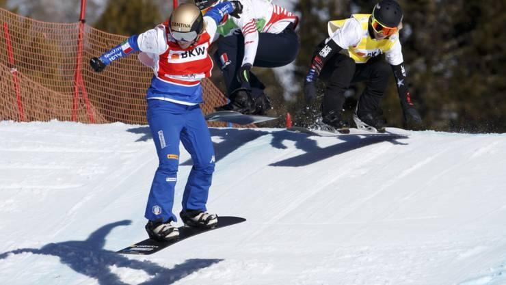 Die Snowboardcrosser durften am Freitag noch fahren.