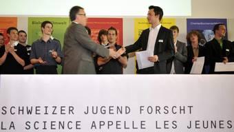 Schweizer Jugend forscht: Preisverleihung am nationalen Wettbewerb 2010 (Archiv)