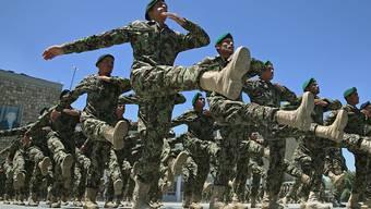 Soldaten beim Training in der afghanischen Hauptstadt Kabul. (Archivbild)