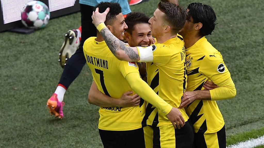 Ende gut, alles gut bei Dortmund dank Jadon Sancho (7), der in der 87. Minute ein zweites Mal traf